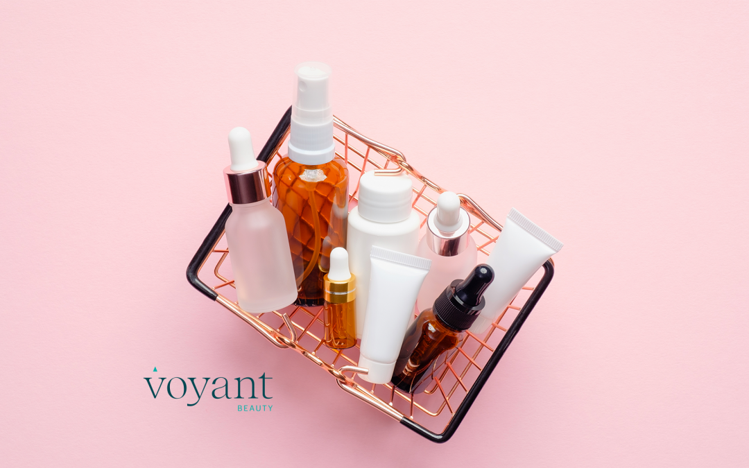 basket full of cosmetic products